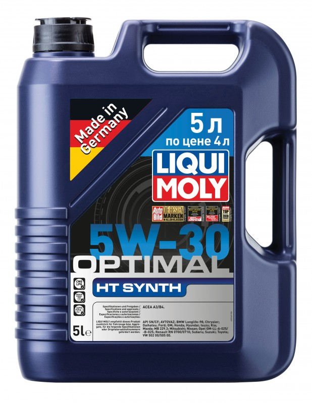 39010 LiquiMoly НС-синт. мот.масло Optimal HT Synth 5W-30 A3/B4 (5л)