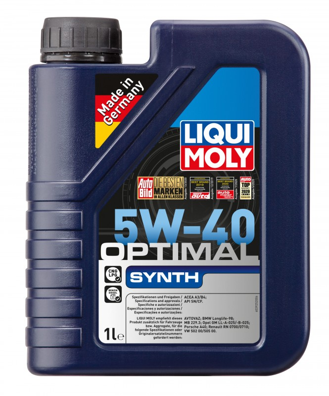 2759 LiquiMoly НС-синт.мот.масло  Optimal Synth 5W-40 SN/CF;A3/B4(1л)