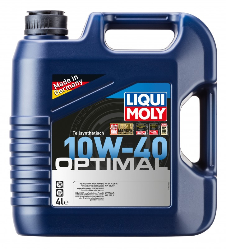 3930 LiquiMoly П/с.мот.масло Optimal 10W-40 SL/CF;A3/B3 (4л)