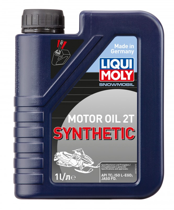 2382 LiquiMoly Синт. мот.масло д/снегох. Snowmobil Motoroil 2T Synthetic TC FD L-EGD (1л)